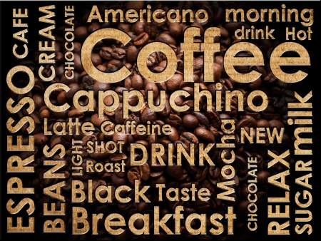 sorts of coffe background Stock Photo - 14674165