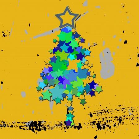 grunge christmas tree photo