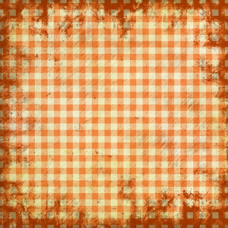 grunge illustration of picnic tablecloth illustration