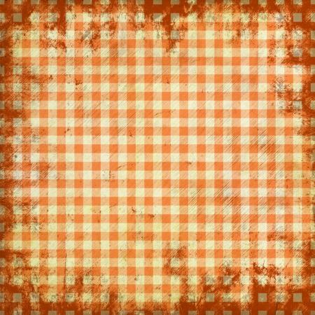 grunge illustration of picnic tablecloth illustration
