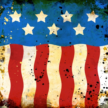 Grunge USA background with stains photo