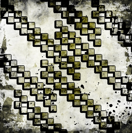 Grungy chessboard background photo