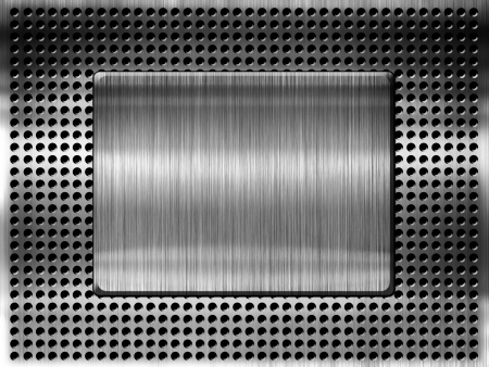 High quality metal grill template background Stock Photo