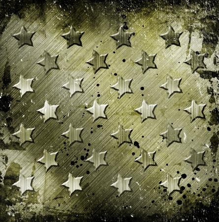 Military Grunge With Stars Stock Photo