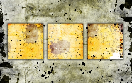 bl: three squares on grunge background Stock Photo