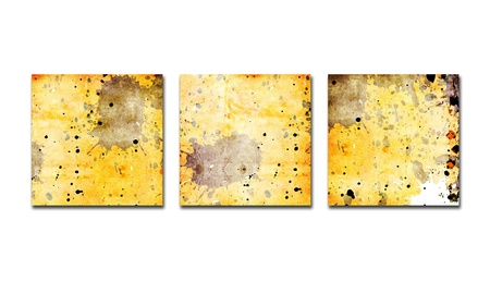 bl: three squares on grunge background Stock Photo