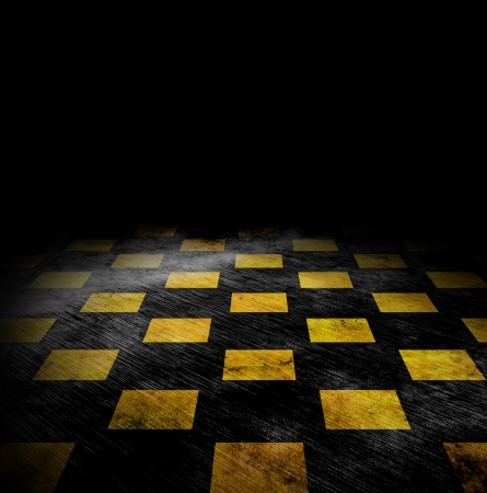 vivid grunge chessboard backgound with stains