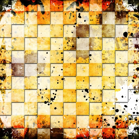 vivid grunge chessboard backgound Stock Photo - 14669649