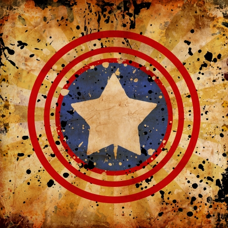 4th July grunge background with stains photo