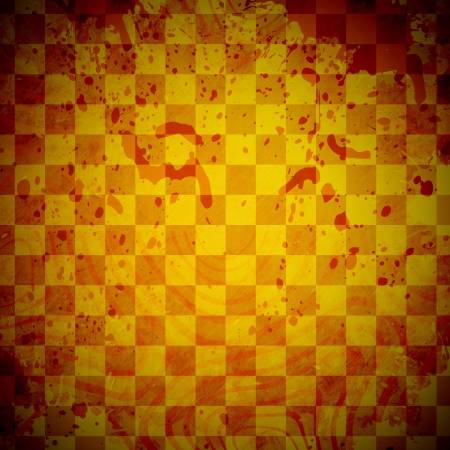 abstract grunge checkered background with stains photo