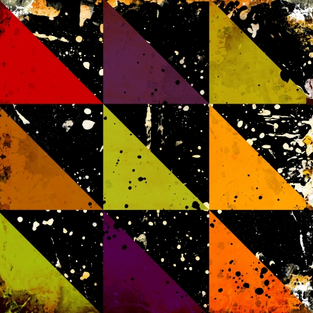 Abstract color grunge background with stains photo
