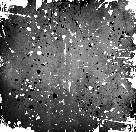 Black and white stains on grunge background