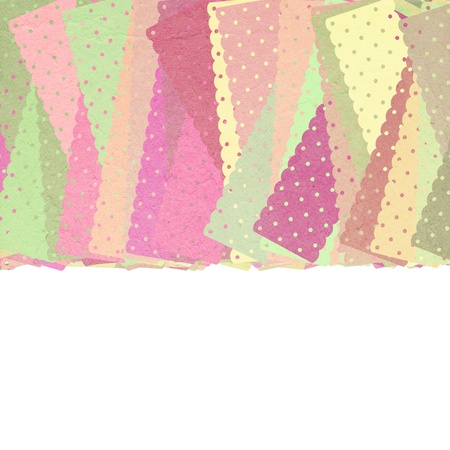 fabric pattern on white background with place for text photo