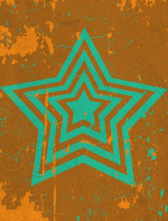 slop: grunge background with scratches and star