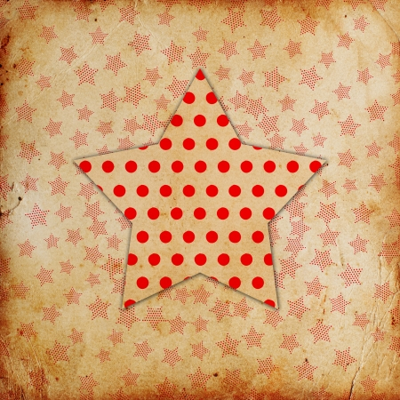 grunge background with star made from dots