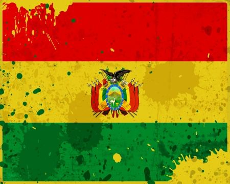Grunge Bolivia flag with stains - flag series photo