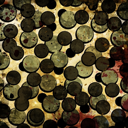 grunge circles on the abstract background photo