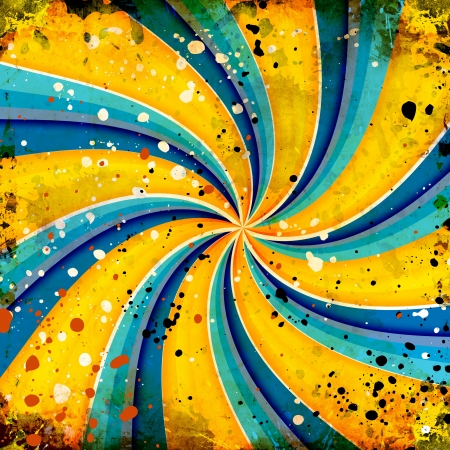 grunge twirl background with abstract stains photo