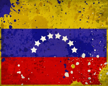 bandera de venezuela: Grunge bandera de Venezuela con manchas - serie de la bandera Foto de archivo