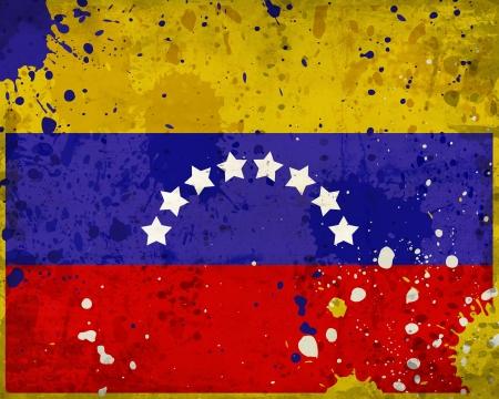 venezuela: Grunge Venezuela flag with stains - flag series
