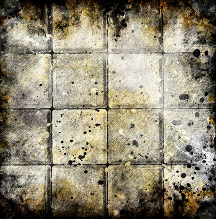 Grungy chessboard background with stains Stock Photo - 14671336