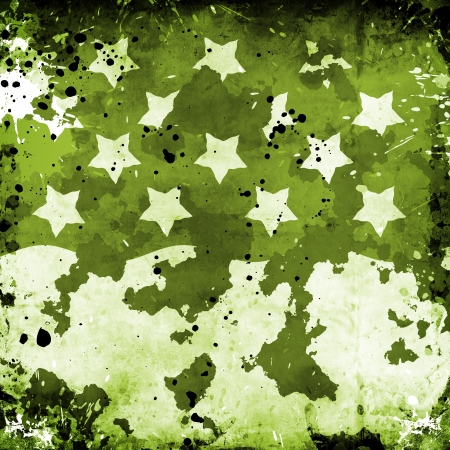 Military Grunge With Stars and stains Stock Photo