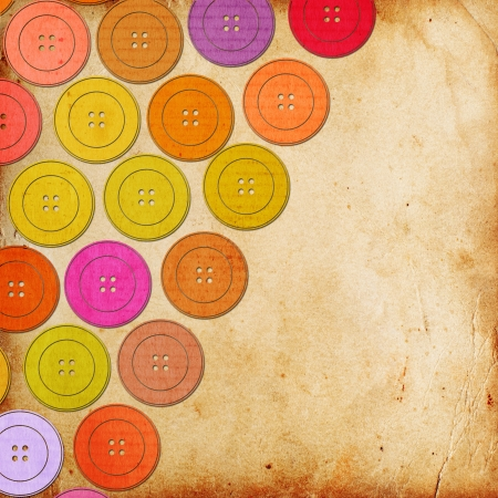 vintage baxckground with colorful buttons photo
