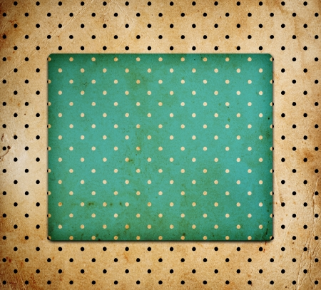 vintage dotted background with stains Stock Photo