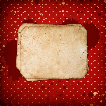 vintage frame on red retro Background photo
