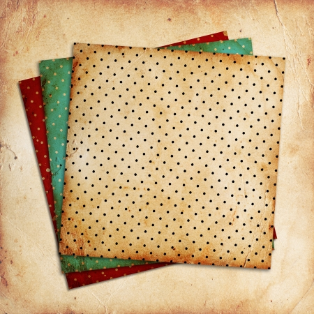 vintage patterns on paper background photo