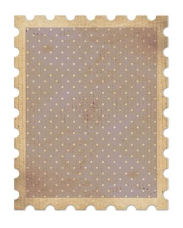 torn edge: vintage stamp