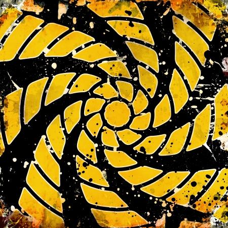 vivid background with whirligig on black background photo