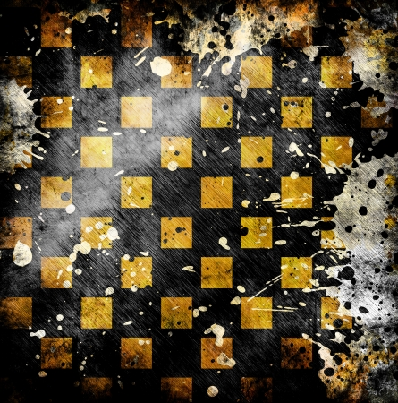 vivid grunge chessboard backgound with stains Stock Photo - 14669661