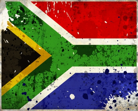 Grunge South Africa flag with stains - flag series photo