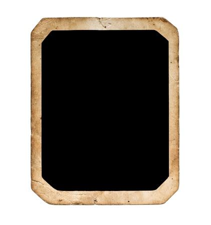 Vintage blank photo on white background Stock Photo - 14719170