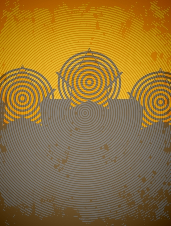 communists: abstract background with stars and circles