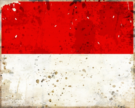 Grunge Monaco flag with stains - flag series photo
