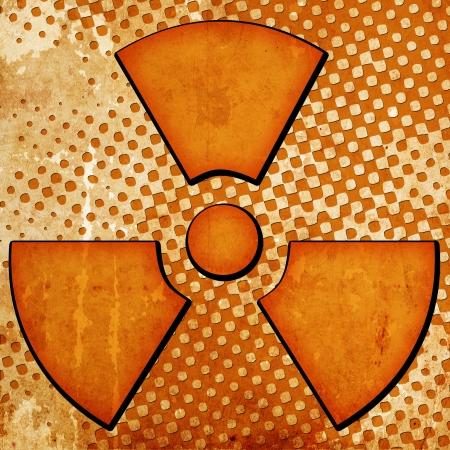 sign of radiation on grunge background Stock Photo - 15093002