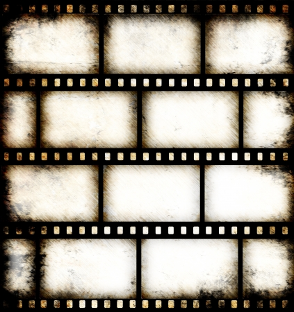 entertaining: Vintage background with film flame Stock Photo