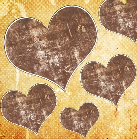 grunge background with heart Stock Photo - 15665989