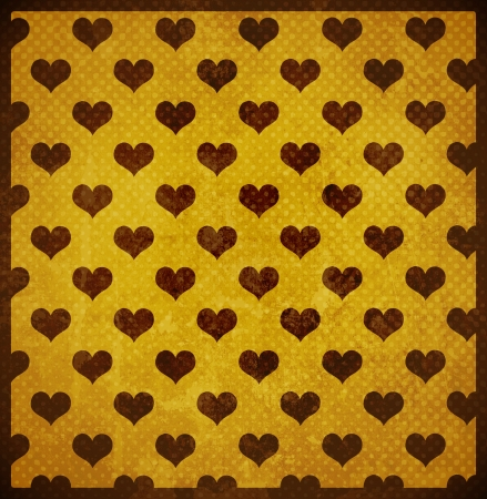 grunge retro background with hearts photo
