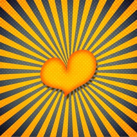 heart on grunge background Stock Photo - 15665563