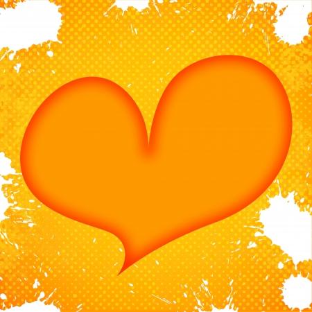 heart on grunge background Stock Photo - 15665078