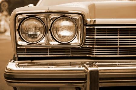 headlights: photo of retro car headlights
