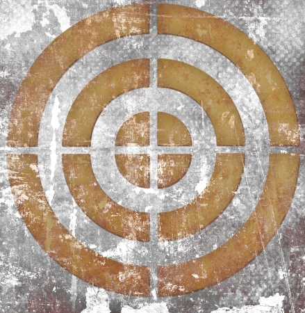 target on grunge background photo