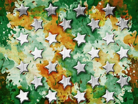 Military Grunge With Stars Stock Photo - 16624830
