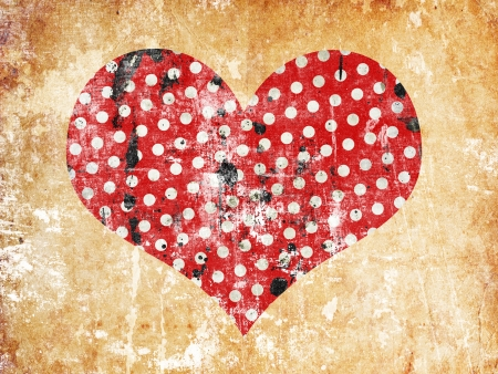 free holiday background: abstract grunge background with hearts