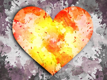 free image: abstract grunge background with heart