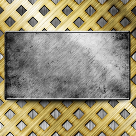 metal template background Stock Photo - 16625222