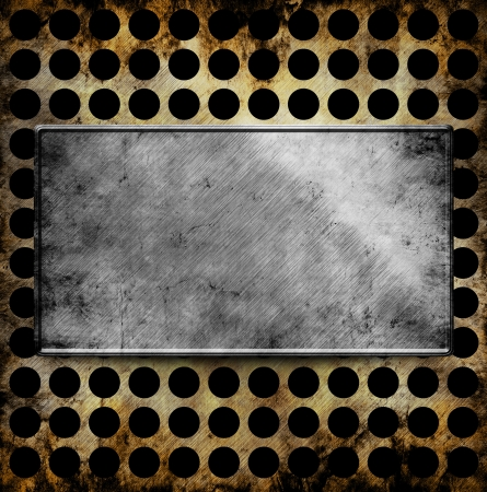 metal template background Stock Photo - 16624854